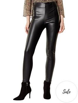 karen-millen-faux-leather-leggingsnbsp--black