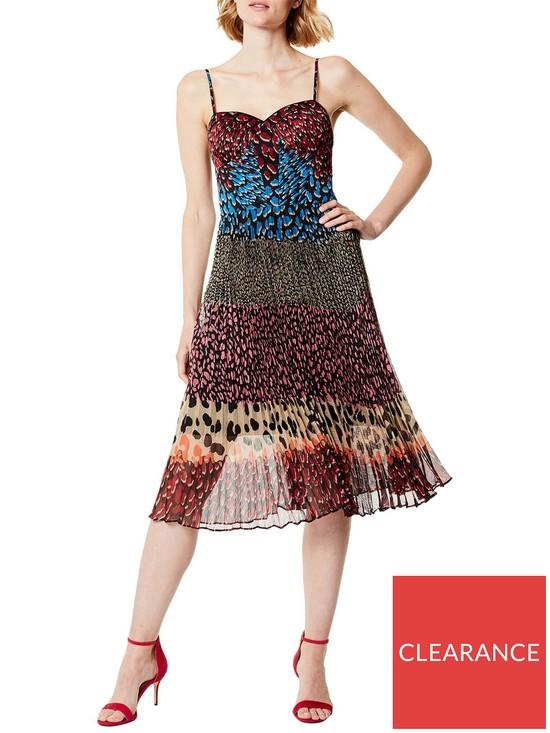 164b918da896 KAREN MILLEN Colour Block Leopard Print Dress - Multicolour | very.co.uk