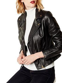 karen-millen-leather-biker-jacket-black