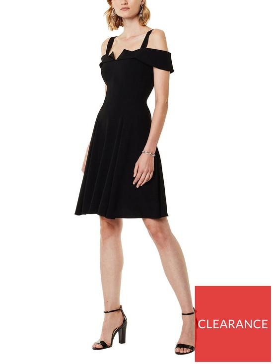 0bea39dbc8 KAREN MILLEN Origami Cold Shoulder Dress - Black | very.co.uk