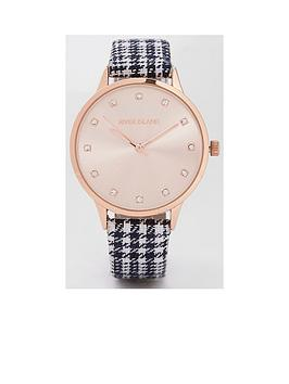 river-island-river-island-rose-gold-tone-check-strap-watch