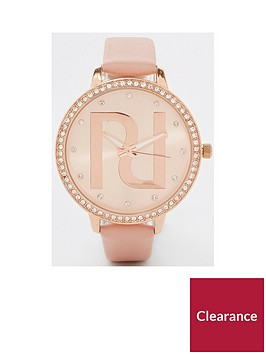 river-island-branded-watch-pink