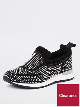 river-island-river-island-heatseal-lace-up-shoes-black