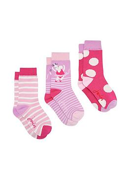 joules-girls-3-pack-mouse-bamboo-socks-pink