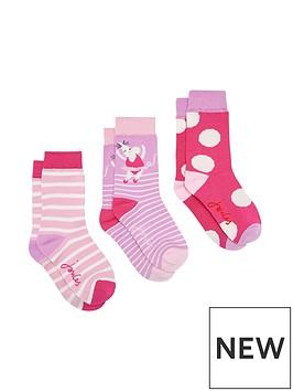 joules-girls-3pk-mouse-bamboo-socks