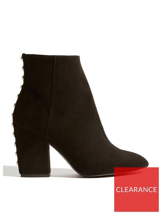 bfc48dff2b52 KAREN MILLEN Block Heel Ankle Boots - Black