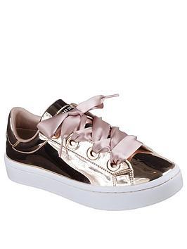 Skechers Hi-Lites Liquid Bling Plimsoll - Rose Gold