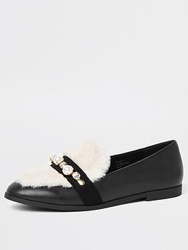 river-island-river-island-faux-fur-peal-loafer-black