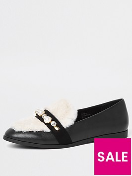 river-island-river-island-faux-fur-peal-loafer-black