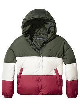 tommy-hilfiger-girls-colour-block-padded-coat-multi