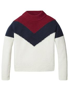 tommy-hilfiger-girls-colourblock-jumper