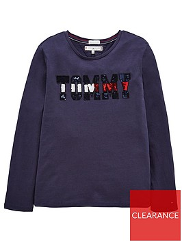 tommy-hilfiger-girls-long-sleeve-sequin-t-shirt