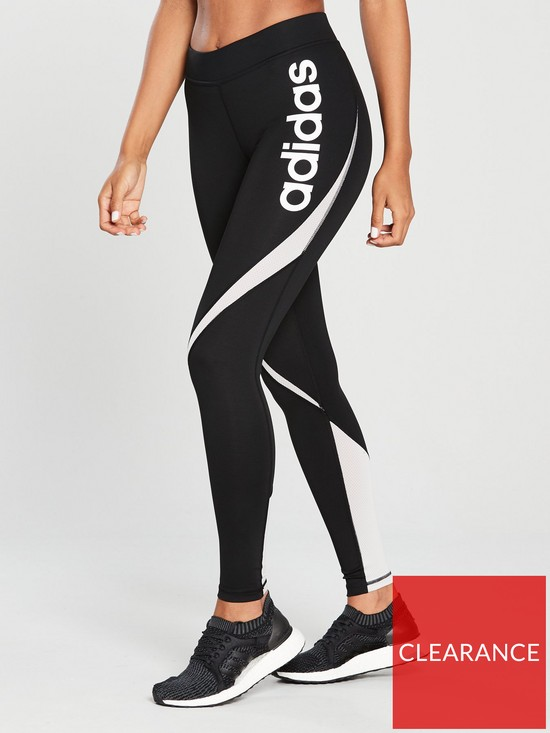 011076dd adidas Training Linear Leggings - Black/White | very.co.uk
