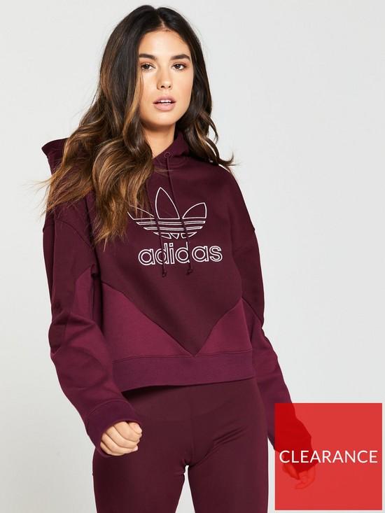 f17f8b1a3c adidas Originals CLRDO Hoodie - Maroon   very.co.uk