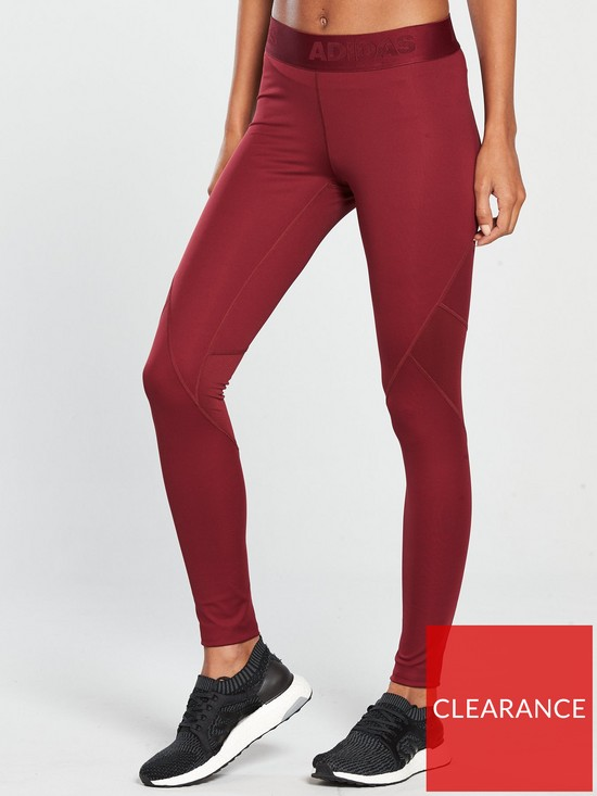 866e499459f08 adidas Alphaskin Sport Long Tight - Red | very.co.uk