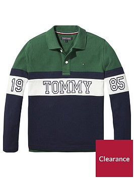 tommy-hilfiger-boys-long-sleeve-panel-polo-green