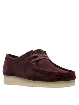 clarks-originals-originals-wallabee-flat-shoes-burgundy