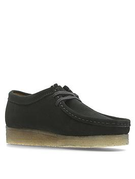 clarks-originals-originals-wallabee-flat-shoes-black