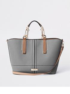 river-island-winged-tote-grey