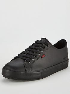 kickers-tovni-leather-lace-up-plimsolls-black
