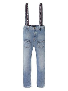 tommy-hilfiger-girls-straight-fit-dungaree