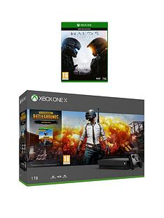 xbox-one-x-console-with-pubg-and-halo-5-optional-wireless-controller-andor-12-months-live
