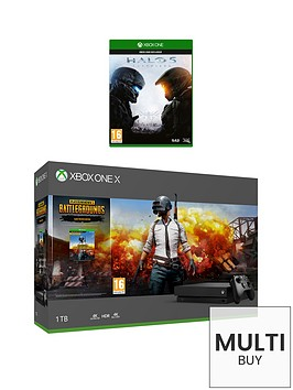 xbox-one-x-playerunknowns-battlegrounds-1tb-console-bundle-with-halo-5-and-optional-extras