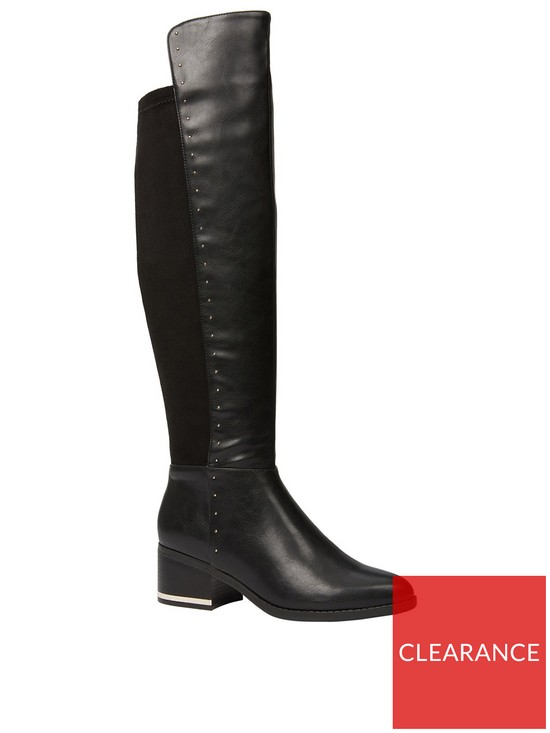 17a9edc99bb CALL IT SPRING Rhonna Flat Over The Knee Boot - Black