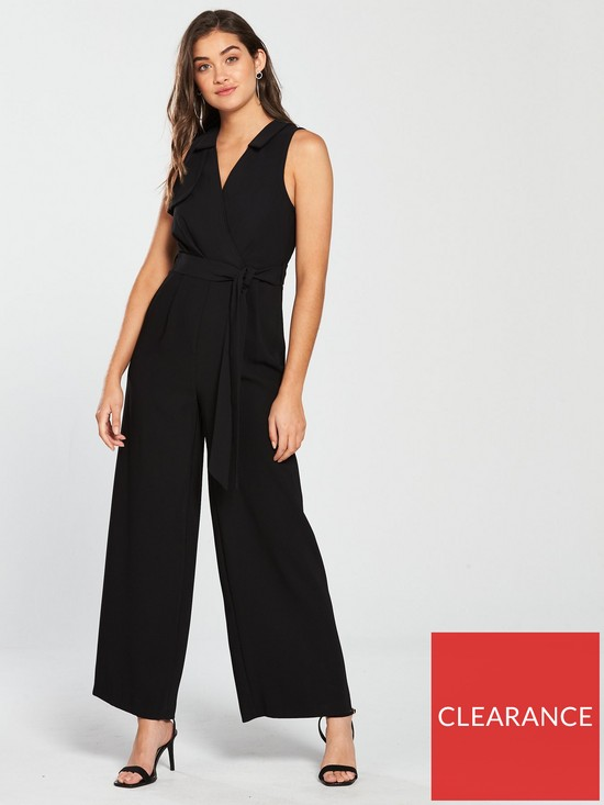 be0a7e44ef River Island River Island Short Sleeve Jumpsuit - Black