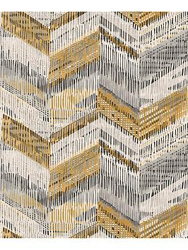 arthouse-chevron-weave-ochre-wallpaper