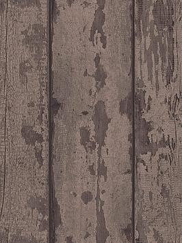 arthouse-mahogany-wood-plank-wallpaper