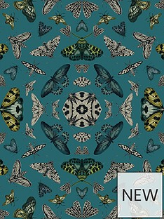 arthouse-glitter-bug-emerald-wallpaper