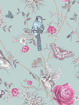 arthouse-paradise-garden-mint-green-wallpaper