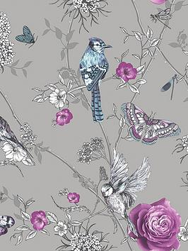 arthouse-paradise-garden-silver-wallpaper