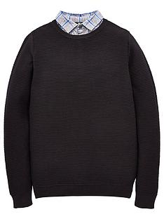 v-by-very-boys-mock-checked-shirt-and-textured-knitted-jumper-navy