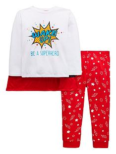 mini-v-by-very-wake-up-be-a-superhero-pyjama-set-with-matching-cape-multi
