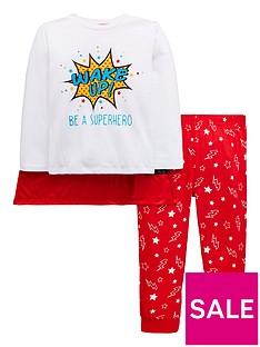 mini-v-by-very-wake-up-be-a-superhero-pyjama-set-with-matching-cape-multi