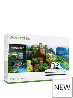 xbox-one-s-1tbnbspminecraft-bundle-plus-optional-extra-wireless-controller-andor-12-months-live-gold