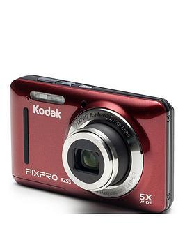 kodak-pixpro-fz53-camera--nbsp16mpnbsp5x-zoom-27-lcd-28mm-wide-lens-li-ion-battery-red