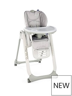 Chicco Chicco Polly 2 start Highchair- Happy Silver
