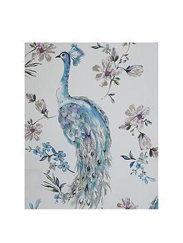 arthouse-teal-peacock-canvas-wall-art