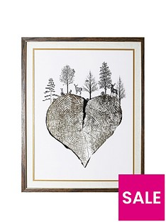 arthouse-wild-woods-tree-trunk-heart-framed-print