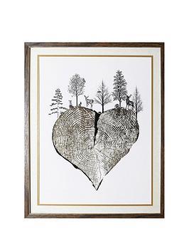 arthouse-wild-woods-tree-trunk-heart-framed-print