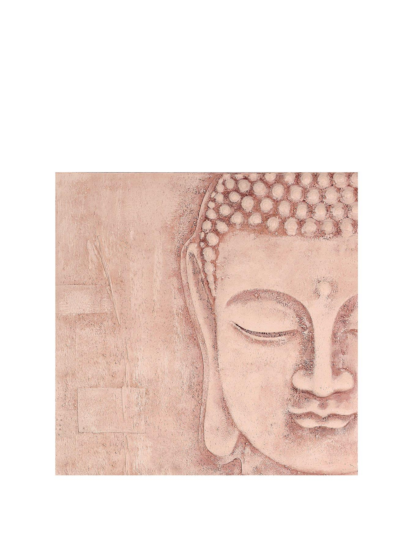 Black /& Gold Buddha with 3D Textured Detail Canvas Wall Art Picture 57cm x 57cm