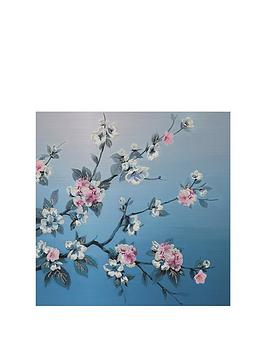 arthouse-teal-blossoms-canvas-wall-art
