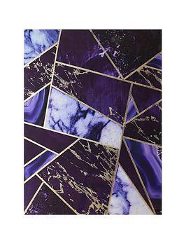 arthouse-dark-intense-geo-high-gloss-foiled-canvas