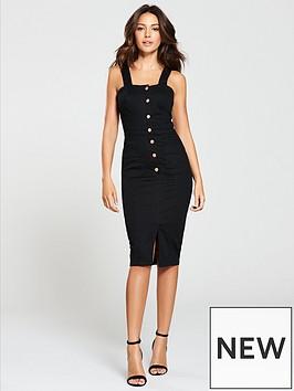 michelle-keegan-denim-bodycon-dress-black