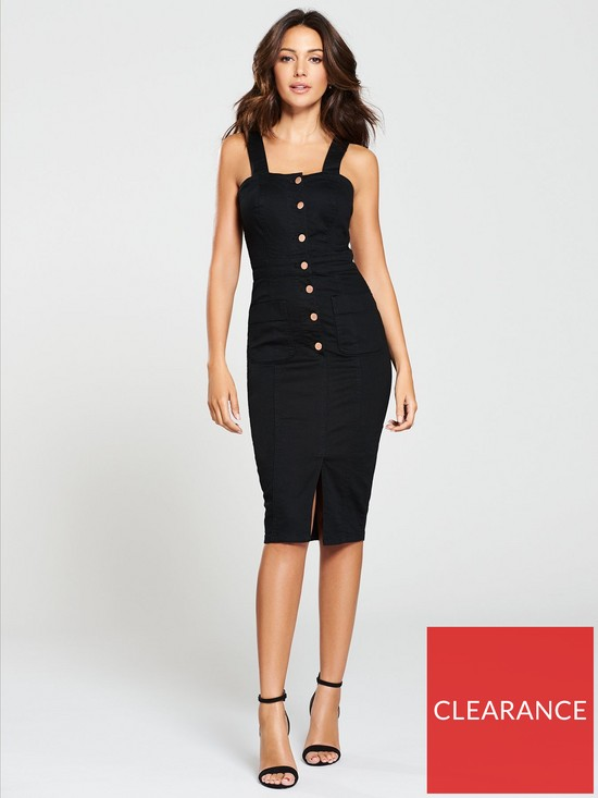 d87b0cdc42 Michelle Keegan Denim Bodycon Dress - Black