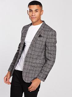 river-island-grey-check-skinny-fit-blazer