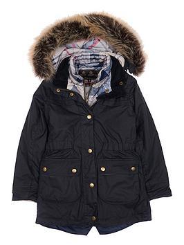 barbour-girls-dartford-wax-hooded-coat